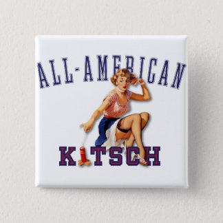 Der Kitsch Bitsch: All-Amerikanischer Kitsch Quadratischer Button 5,1 Cm