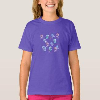 Der klassische T - Shirt der Mädchen mit Quallen