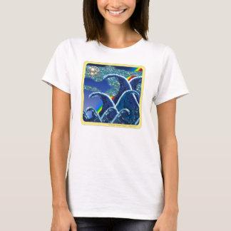 Der Kleidungs-| Paillette-Kunst-Druck T-Shirt
