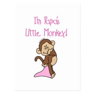 Der kleine Affe des Papas - rosa T-Shirts und Postkarte