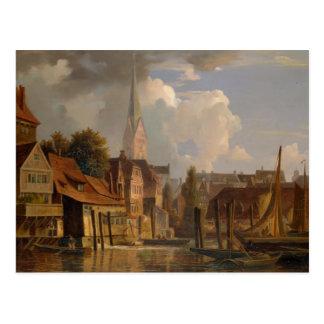 Der Kleine Alster im Jahre 1842, 1842 Postkarte