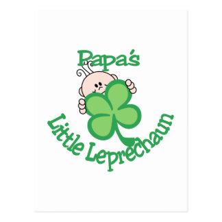 Der kleine Kobold des Papas Postkarte