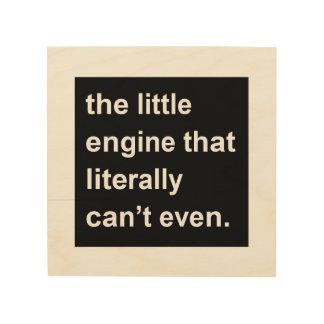 der kleine Motor, der buchstäblich nicht einmal Holzdruck