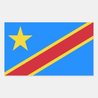 Der Kongo/Flagge Kongolesen Kinshasa. Rechteckiger Aufkleber