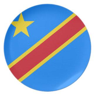 Der Kongo - Republik Kongos-Flagge Melaminteller