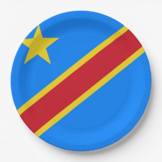 Der Kongo - Republik Kongos-Flagge Pappteller