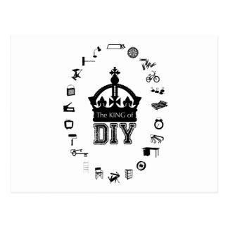 Der König von DIY - gotische Schriften - Postkarte