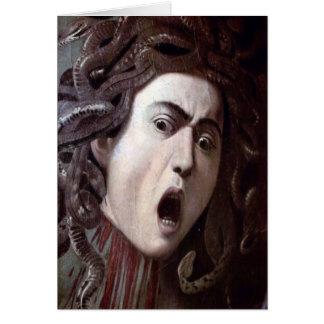 Der Kopf der Medusa durch Michelangelo Caravaggio Karte