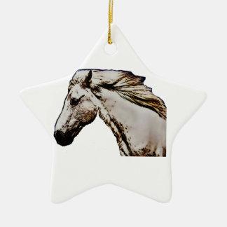 Der Kopf des Pferds Keramik Stern-Ornament