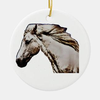 Der Kopf des Pferds Rundes Keramik Ornament