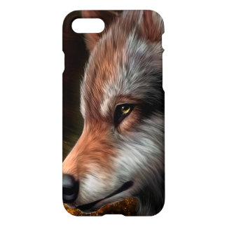 Der Kopf einer Wolfmalerei iPhone 7 Hülle