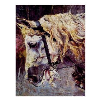 Der Kopf eines Pferds durch Giovanni Boldini Postkarte