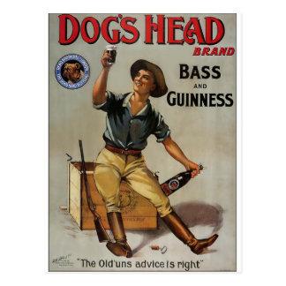 Der Kopf-Marke des Hundes Postkarte