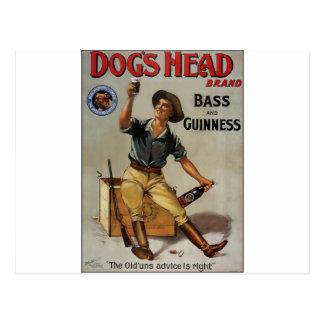 Der Kopf-Marke des Hundes Postkarten