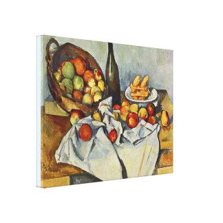 Der Korb der Äpfel durch Paul Cezanne Leinwanddruck