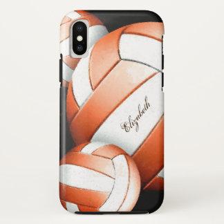 Der künstlerische Volleyball der orange weißen iPhone X Hülle