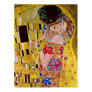 Der Kuss durch Gustav Klimt, Vintage Kunst Nouveau Postkarte