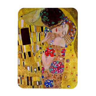 Der Kuss durch Gustav Klimt, Vintage Kunst Nouveau Rechteckige Magnete
