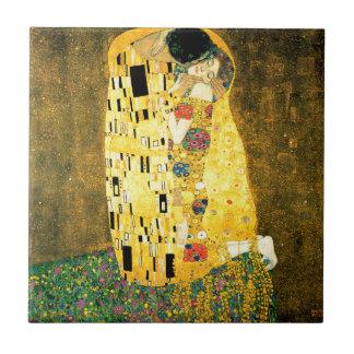 Der Kuss durch Kunst Nouveau Gustav Klimt Fliese