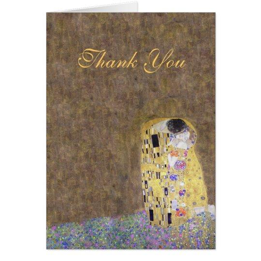 Der Kuss Klimt danken Ihnen goldene Mitteilungskarte