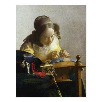 Der Lacemaker, 1669-70 Postkarte