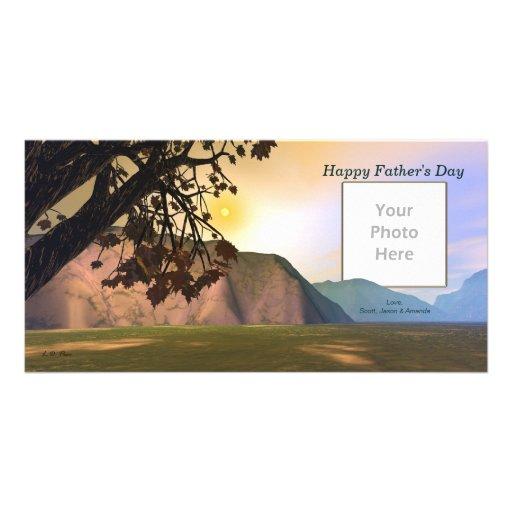 Der landschaftliche Vatertag Foto Karten Vorlage