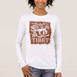 Der lange Sleeved T - Shirt der tibetanischen