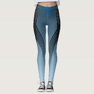 Der Läufer - blaue Gamaschen Leggings