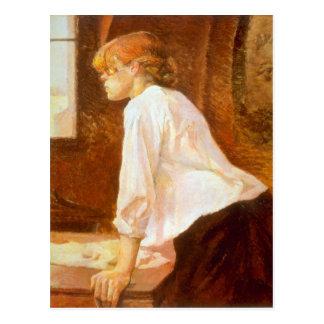 Der Laundress durch Toulouse-Lautrec Postkarte