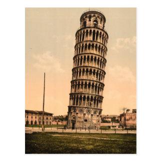 Der lehnende Turm von Pisa, Toskana, Italien Postkarte