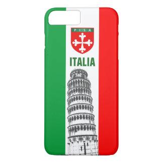 Der lehnende Turm von Pisa und von Pisan Kreuz iPhone 8 Plus/7 Plus Hülle
