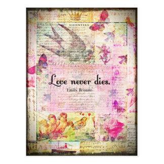 Der Liebe ZITAT Würfel nie DURCH Emily Bronte Postkarte