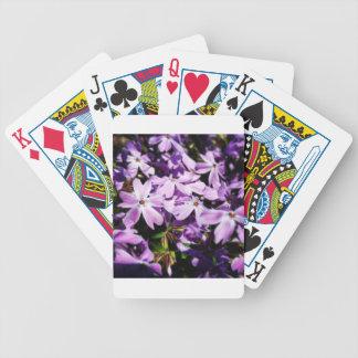 Der lila Blumen-Flecken Bicycle Spielkarten