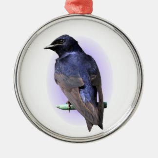 Der lila Martin Silbernes Ornament