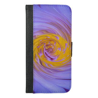 Der lila Wasser-Lilien-Rotations-Entwurf iPhone 6/6s Plus Geldbeutel Hülle