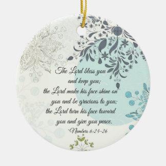Der Lord Bless You, Zahl-6:24, Bibel-Weihnachten Keramik Ornament