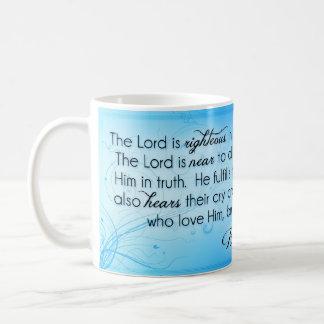 Der Lord ist rechtschaffenes ~ Psalm-145:17 - 20 Kaffeetasse