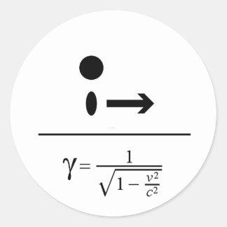 Der Lorentz Faktor Runder Aufkleber