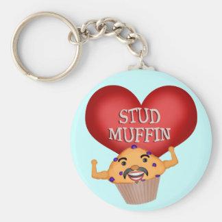 Der lustige Keychain der Bolzen-Muffin-Männer Schlüsselanhänger