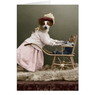 Der lustige Tag der Hundemutter Karte