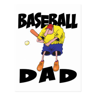 Der lustige Vatertag Baseball-Vati- Postkarte