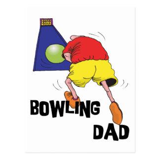 Der lustige Vatertag Bowlings-Vati- Postkarten