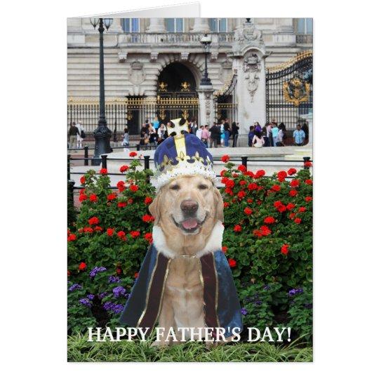 Der lustige Vatertag Labrador- Grußkarte