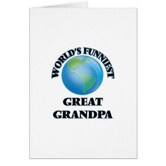 Der lustigste große Großvater der Welt Grußkarte