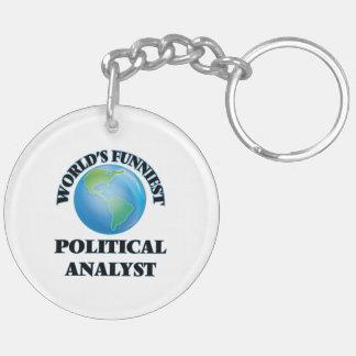 Der lustigste politische Analyst der Welt Schlüssel Anhänger