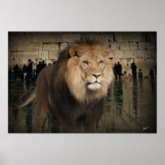 Der mächtige Löwe des Stammes von Judah Poster
