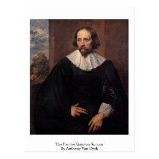Der Maler Quinten Simons durch Anthony Van Dyck Postkarte