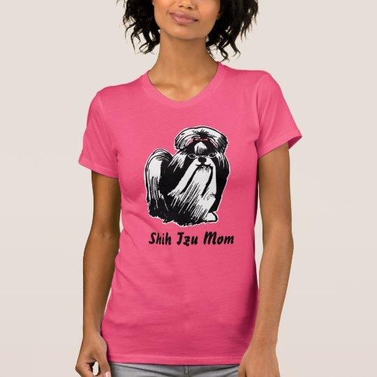 Der Mamma-Frauen Shih Tzu der pinkfarbene T - T-Shirt