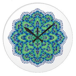 Der Mandala-Coole Smaragd Wanduhr