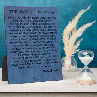 Der Mann im Arena-Zitat durch Theodore Roosevelt Fotoplatte